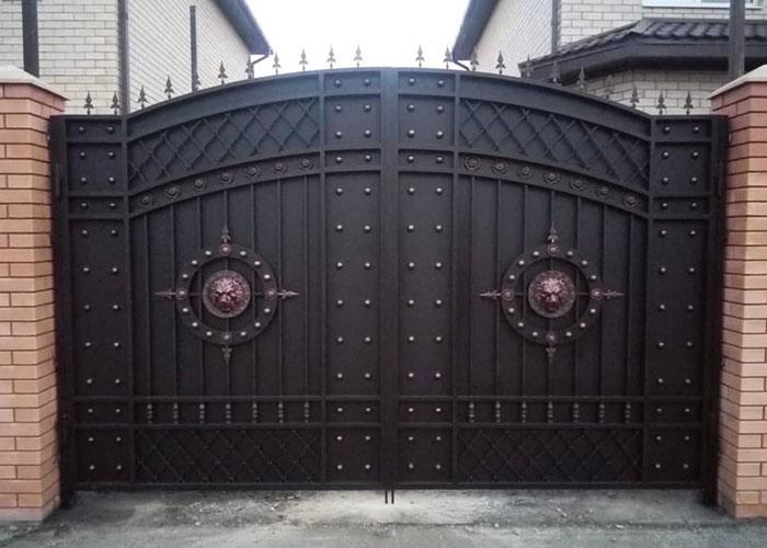 Кованые ворота Яблуновский